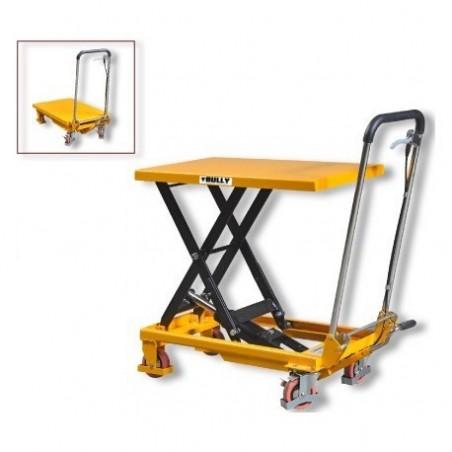 Piattaforma elevatrice manuale con ruote portata 750 kg