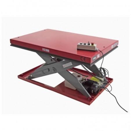 Piattaforma elevatrice a pantografo elettrica 1000 x 2000 2000kg