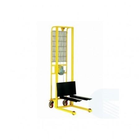 piattaforma sollevamento manuale con ruote portata 300 kg